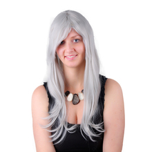Synthetic Grey Hair Wigs Natural Cheap Long Wigs