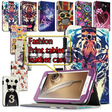 New Style Printed Wallet Leather Tablet Case for Samsung Galaxy Note N5100