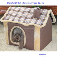 Top quality competitive price sponge dog house luxury dog houses kennel house with zipper