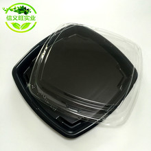 XYW-8135 Disposable plastic party sushi tray / serving tray / food grade food box packaging factory