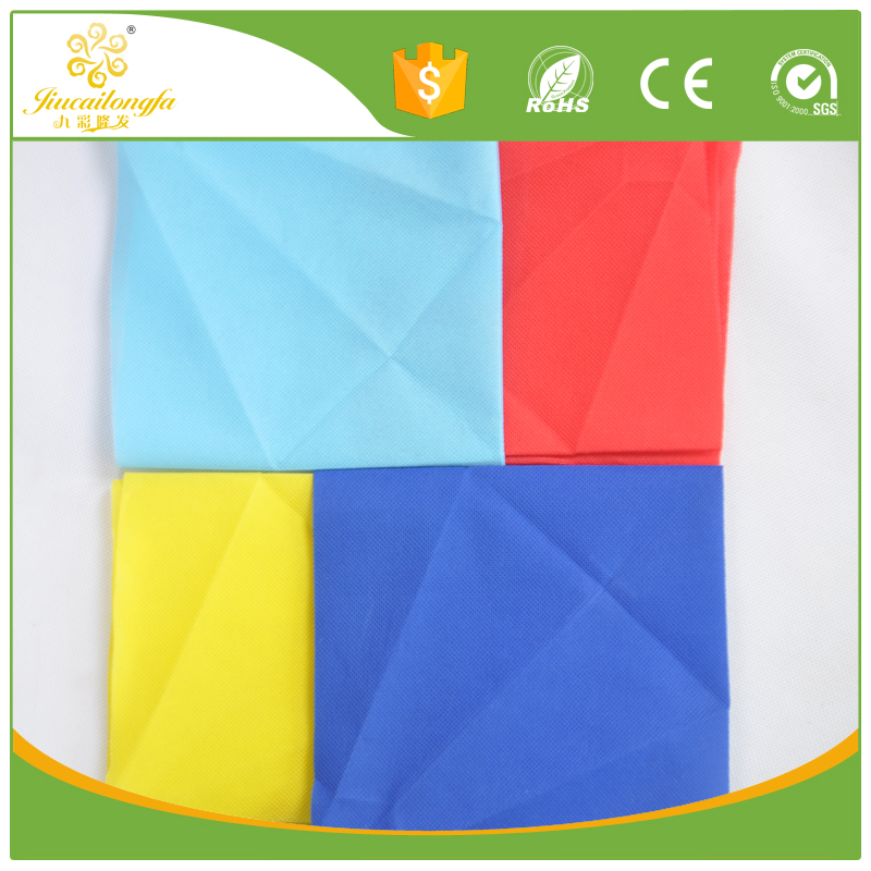 Disposable waterproof and fire retardant printing pla non woven cloth/ 10gsm spunbond nonwoven disposable fitted table covers