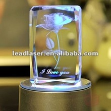 3d laser crystal cube/pendant/trophy/keychain series