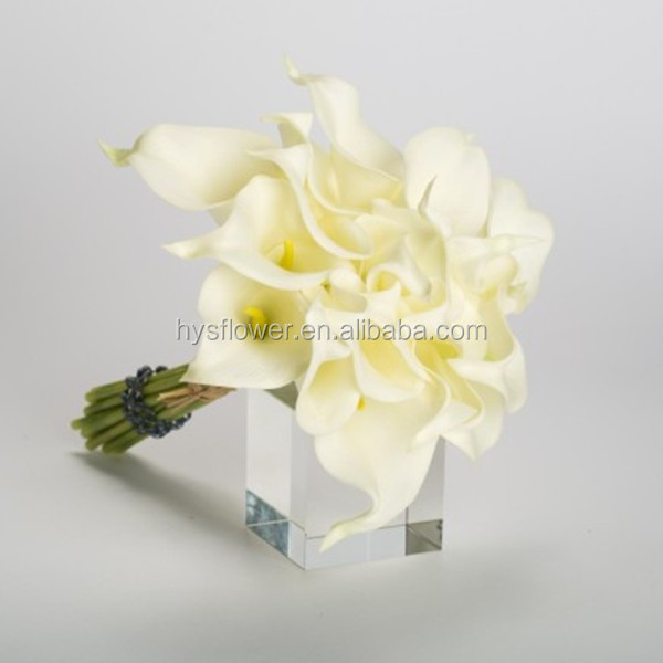 artificial flower decorative flowers mini calla lily,real touch calla lily bouquet