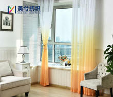 Classic stripe jacquard sheer curtain fabric for wholesale cafe curtain drapery