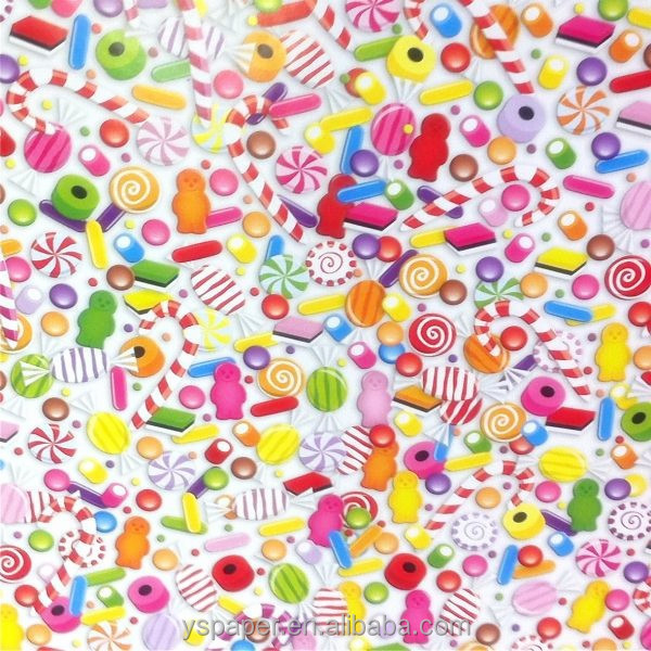 sweets candy printing of gifts packing paper sheet