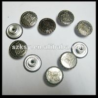 metal pants buttons