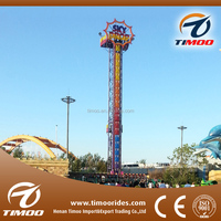family rides games in the theme park sky drop tower for hot sale