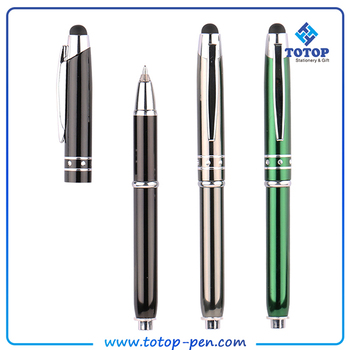 Small MOQ Promotional multifunction luxury light pen