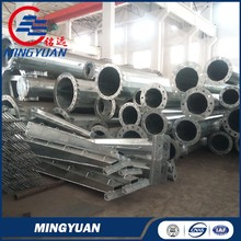 169kv transmission pole galvanized steel pole for electrical power projects