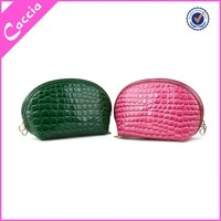 animal skin ellipse style beautiful cosmetic bag promotion toiletry bag