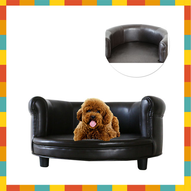leather beds pet beds&accessories deep seated couch dog lounger sofa