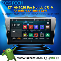 ZESTECH 2015 lastst android 4.4.4 car dvd player gps navigation MCU 1.6G 4core 3g wifi OBD2 android for Honda CR-V