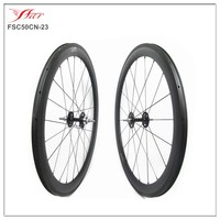 FSC50CM-23 Track carbon bike wheels 50mm deep 23mm wide 3K Matte bicycle carbon fixed gear wheels 20H/24H
