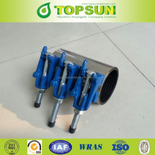 single band ductile cast iron lug pipe repair clamp