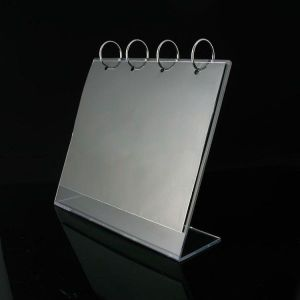 Desktop Flip Acrylic Menu display stand