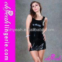 New fashion mature women dress hot lingerie leather