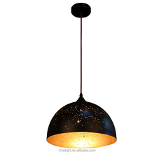 glass shade chanderlier light with wood decor E27 China supplier