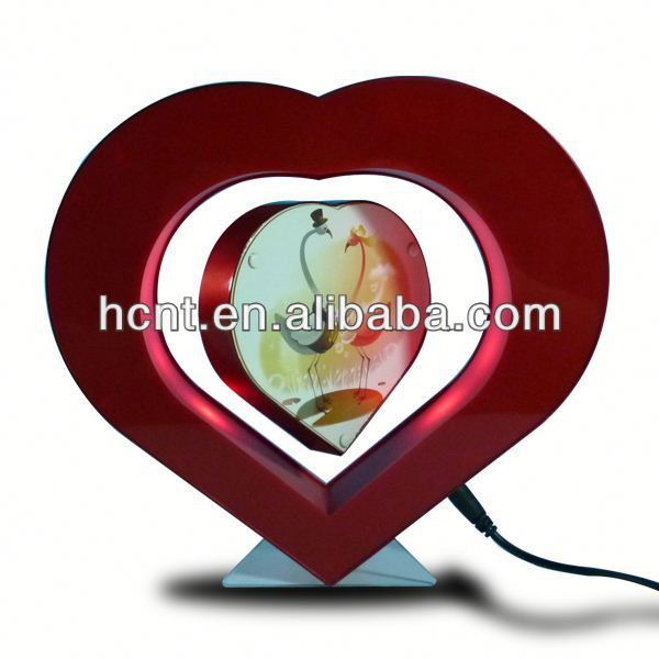 "Acrylic photo frame ,acrylic ""heart"" shape photo frame with magnet"