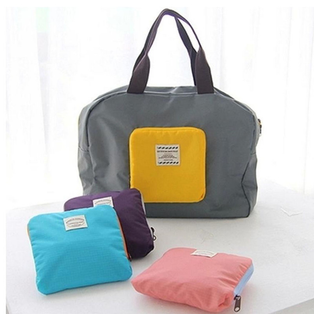 Women Shopping Bag Fashion Grocery Eco-friendly Tote Reusable Portable Bags Candy Color Waterproof Strong Folding Handbag