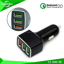 car battery charger for tablet with defferent circle/5v 7.2a car charger with 3 ports