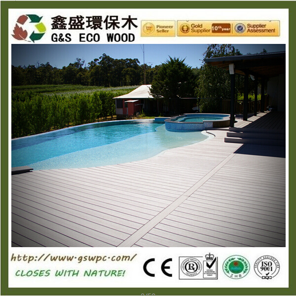 New design recycled material wpc decking anti-slip wood plastic composite flooring hot selling in spain wpc decking floor