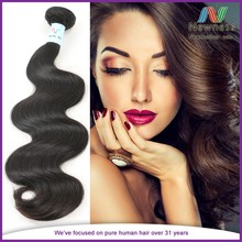 Hot selling natural color virgin Brazilian tight body wave hair