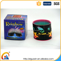 Skull Pattern Coil Spring Slinky Heat Transfer Series Rainbow Circle Spring Toy