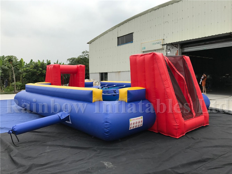 Hot sale inflatable human table football, inflatable footaball field game, inflatable football field