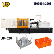 Energy saving servo motor plastic basket/plastic crate injection moulding machine
