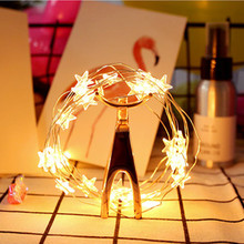 Bulk Product Star Shaped LED Copper Wire String Lights
