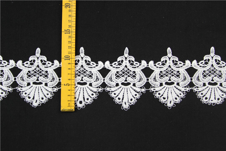 wholesale polyester embroidery lace trim for dress
