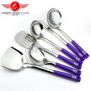 Full sets stainless steel kitchen utensils wholesale for cookware