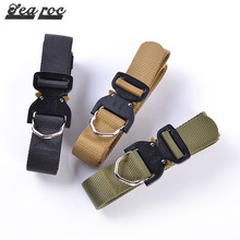 2017 customise color black army belt fabric stripe oem for outdoor garment