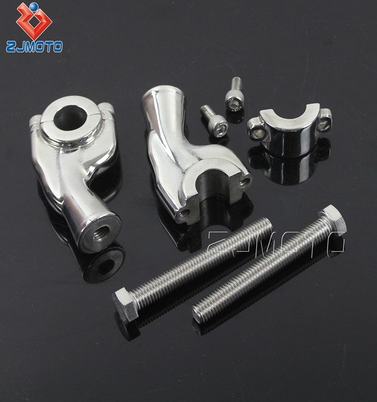 High Quality Heavy Billet Aluminum Motorcycle Parts Polish Handlebar Riser For 1'' 25.4mm Handlebar Clamp