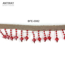 fashion beaded fringe;design beaded fringe;pattern beaded fringe