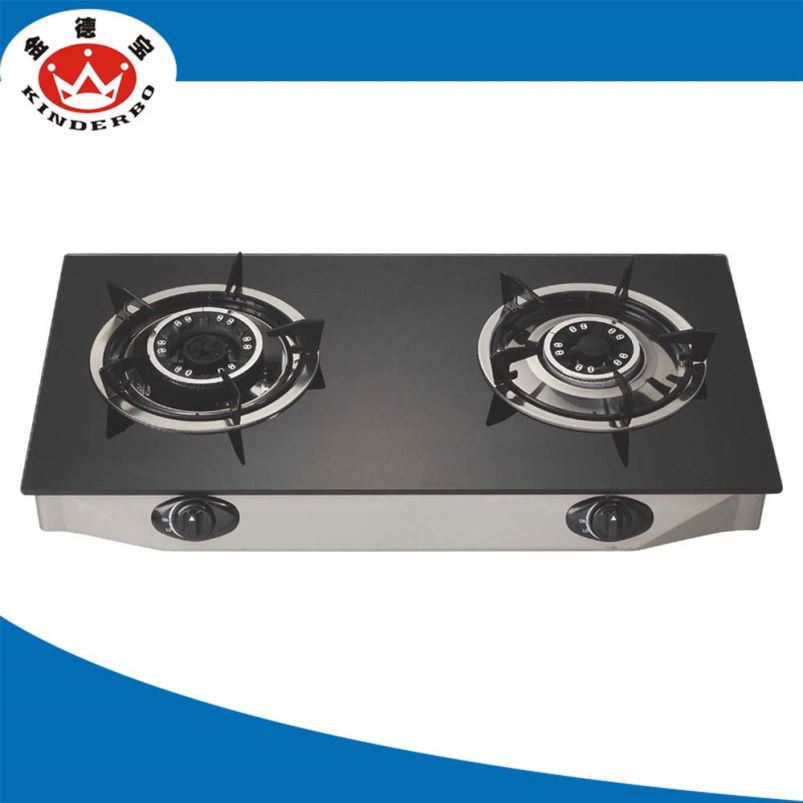 2 burner Camping Grill gas stove pan support