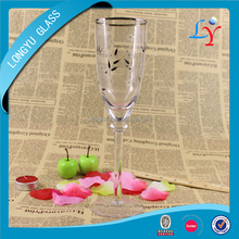 300ml wine glasses etched italian design candle glassware wholesale