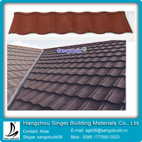 Stone Coated Aluminum Roofing Tile Colorful Sand Coated Metal Roof
