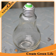 500ml Antique Light Bulb Wine Bottles With Plug And Cap