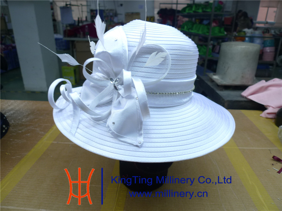 Holy Pure White Women Church Hats Wholesale BM-5059