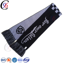Chengxing top quality fringe floral fashion winter custom crochet printed football soccer fan scarf acrylic knitted scarf