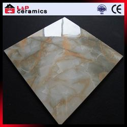 Grass agate inkjet printing polished marble flooring tile for floor and wall