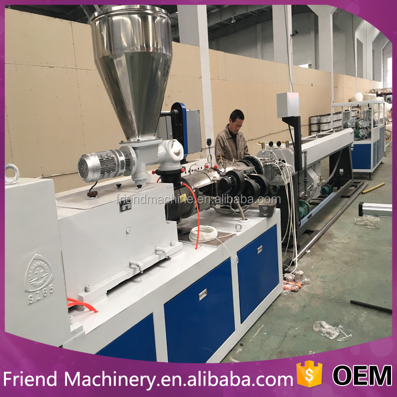 Plastic pvc electrical threading double pipe production line/tube machine