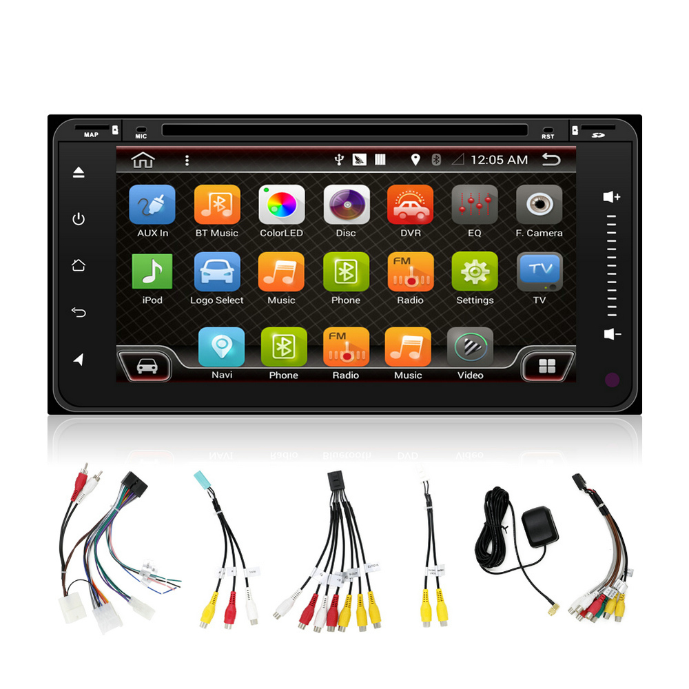 6.95 inch Touch Screen Android DVD GPS Car Audio for Toyota Avanza with Radio Bluetooth 3G Wifi Rear Camera