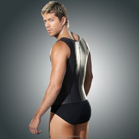 wholesale men Vest Latex corset trainer, latex and cotton vest cinchers wholesale