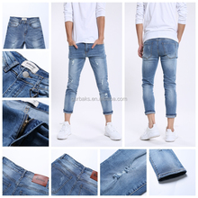 Elastic Cotton Modern Used Mens Jeans