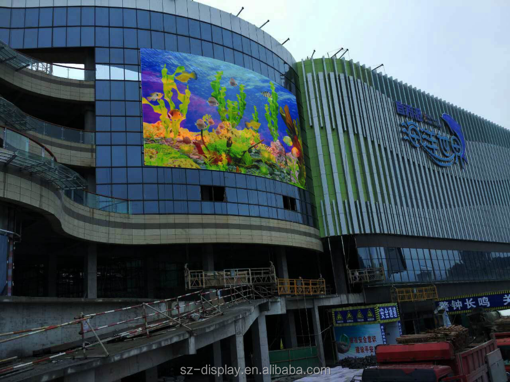 Mesh led display P31.25 outdoor high transparency mesh led display P31.25 mesh/grill led display