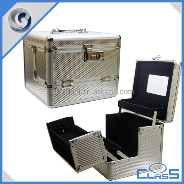 MLDGJ1086 Silver personality aluminum makeup jewelry display case