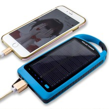 2018 New General Style Power Save Solar Power Bank 8000mah With Torch Light