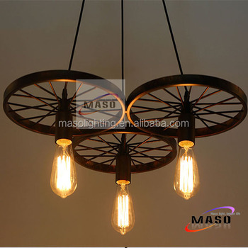 American Country Industrial Pendant Light Vintage Retro Iron pendant lamp E27 energy saving LED light fixtures for decoration